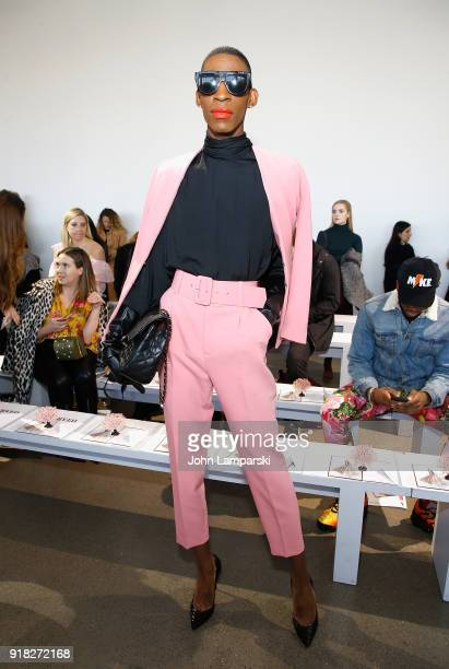 Stixx attends Leanne Marshall show during February 2018 New York Fashion Week The Shows at Gallery II at Spring Studios on February 14 2018 in New...