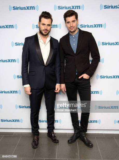 Stjepan Hauser and Luka Sulic of 2Cellos at SiriusXM Studios on February 28 2017 in New York City