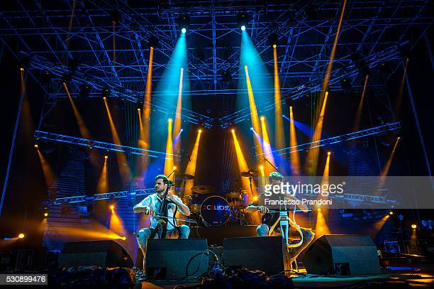 Stjepan Hauser and Luka Sulic of 2Cellos perform on May 11 2016 in Verona Italy