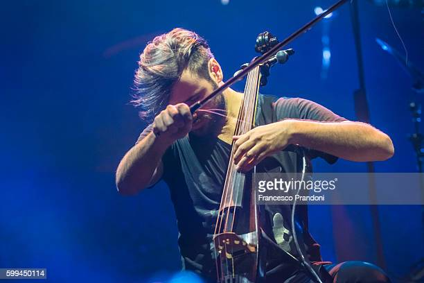 Stjepan Hauser of 2Cellos at Home Festival on September 4 2016 in Treviso Italy