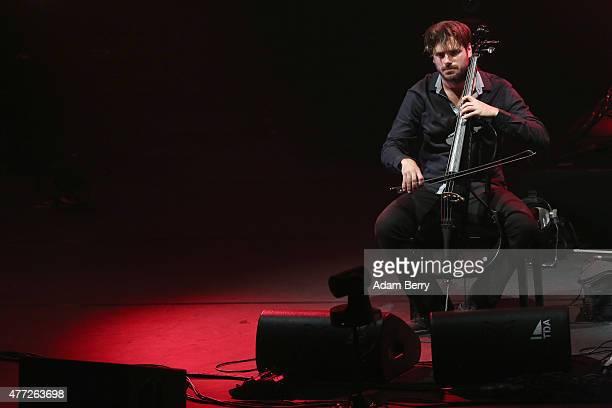 Stjepan Hauser of 2Cellos performs at FriedrichstadtPalast on June 15 2015 in Berlin Germany
