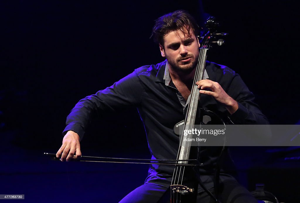 Stjepan Hauser of 2Cellos performs at Friedrichstadt-Palast on June