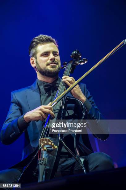 Stjepan Hauser of 2Cellos Performs at Mediolanum Forum on March 30 2017 in Milan Italy