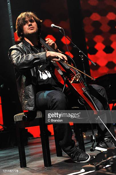 Stjepan Hauser of 2Cellos performs on stage during the iTunes Festival at The Roundhouse on July 25 2011 in London United Kingdom