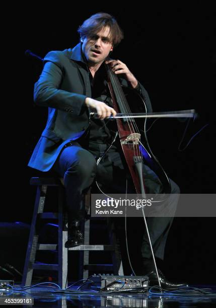 Stjepan Hauser of 2Celos performs prior to Elton John at Madison Square Garden on December 3 2013 in New York City