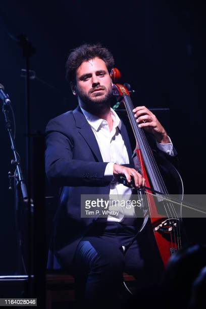 "Stjepan Hauser performs on stage during the first ""Midsummer Party"" hosted by Elton John and David Furnish to raise funds for the Elton John Aids..."