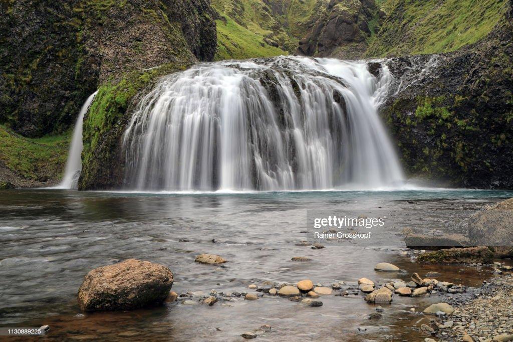 Stjornafoss waterfall in South Iceland : Stock-Foto