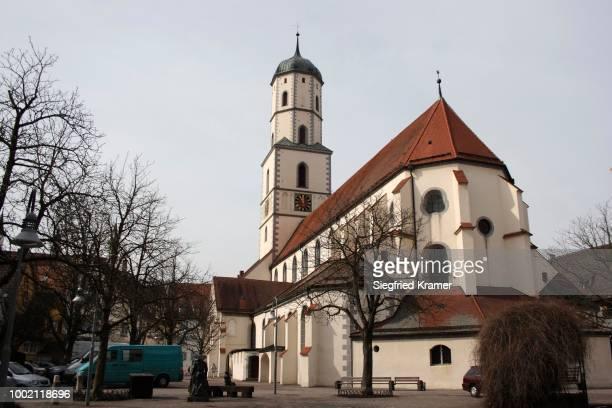 st.-martin-kirche church in biberach an der riss, upper swabia, baden-wuerttemberg, germany - kirche fotografías e imágenes de stock