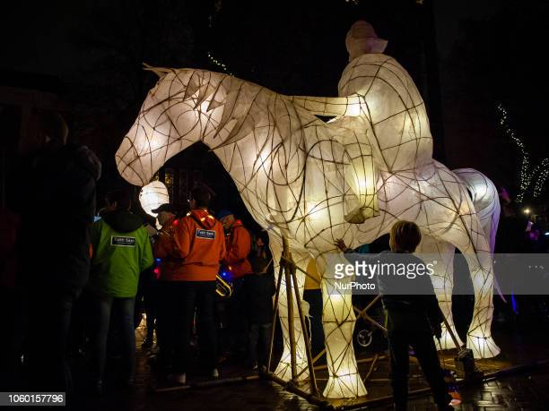 StMartin's Day Parade In Utrecht The Netherlands on 10 November 2018 St Martin's Parade is a wonderful festival of light for old and young with light...