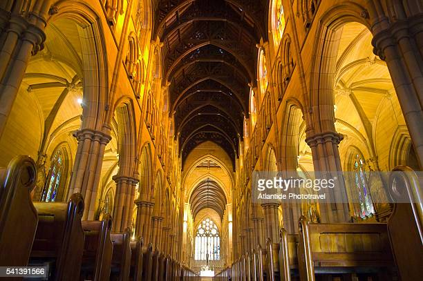 st.mary's cathedral - nave stock pictures, royalty-free photos & images