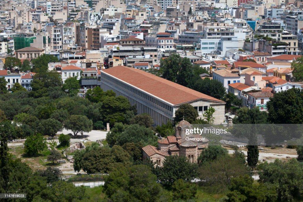 Stoa of Attalos in Athens : Stock Photo