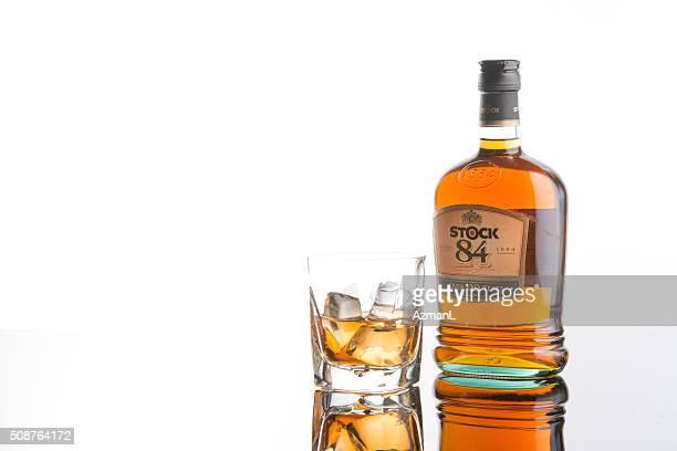 Stock 84 brandy on white