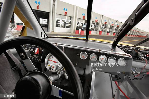stock car cockpit - nascar garage stock pictures, royalty-free photos & images