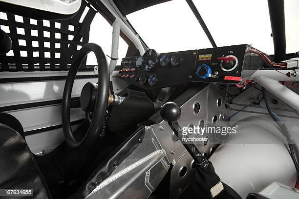 stock car interior - nascar dashboard stock photos and pictures