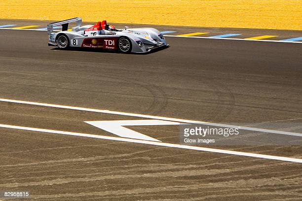 stock car on a motor racing track, le mans, france - nascar stock pictures, royalty-free photos & images