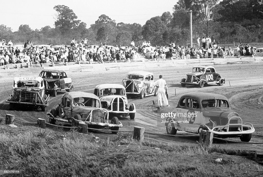 Vintage Stock Car Race in Australia Pictures | Getty Images