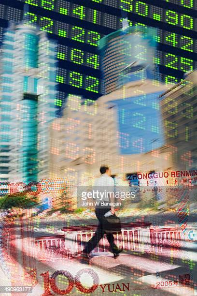 Stock data montage, Shanghai