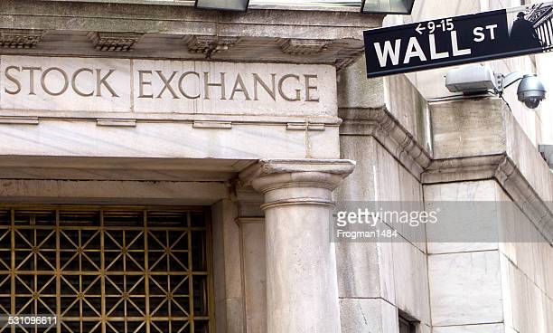 stock exchange and wall street - wall street stock photos and pictures