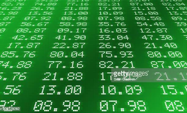 Stock exchange display