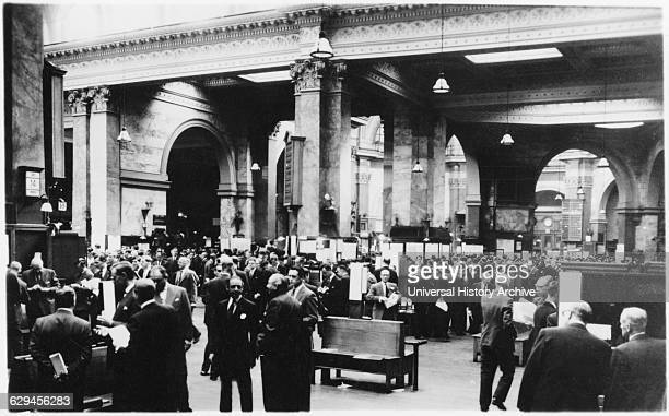 Stock Exchange Generval View London England UK circa 1949
