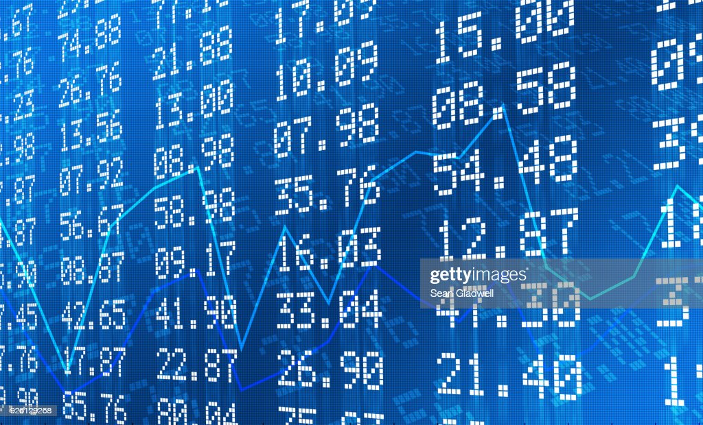 Stock exchange graph and numbers : Stock-Foto