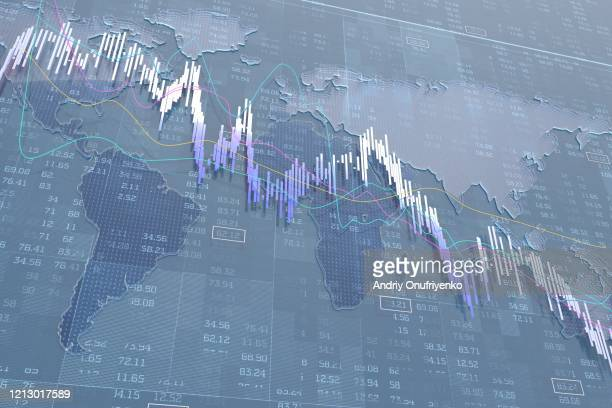 stock exchange graph - rezession stock-fotos und bilder
