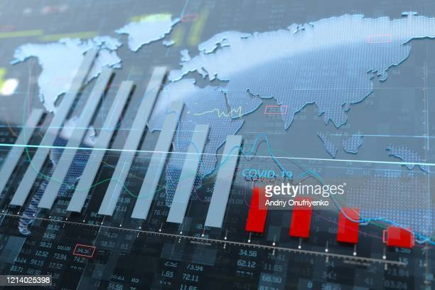 stock exchange graph - stock market crash stock pictures, royalty-free photos & images