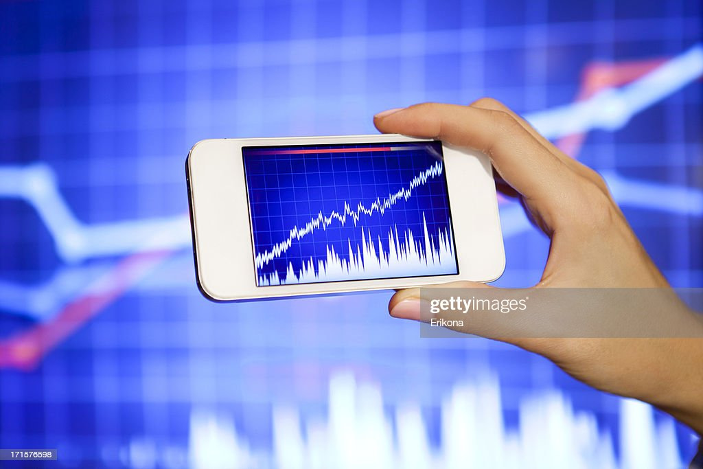 Stock Exchange on Smart Phone : Stock Photo