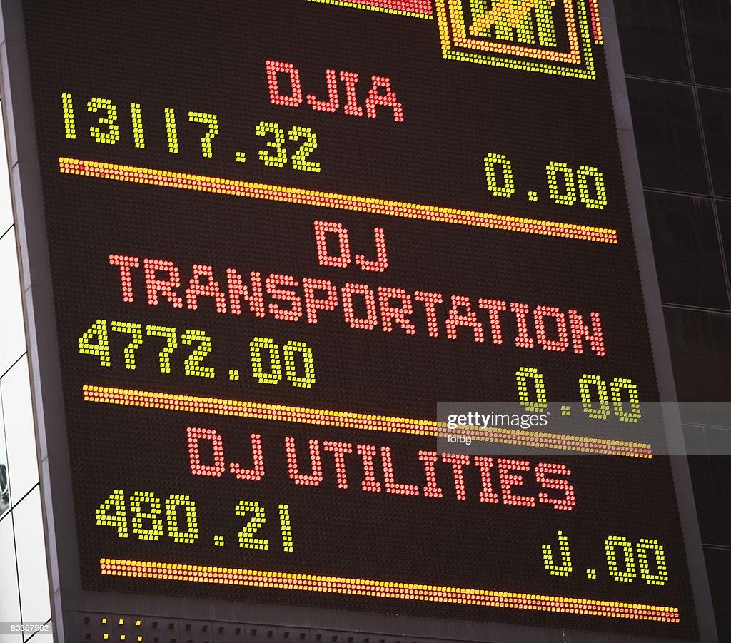 Stock Exchange report : Stock Photo
