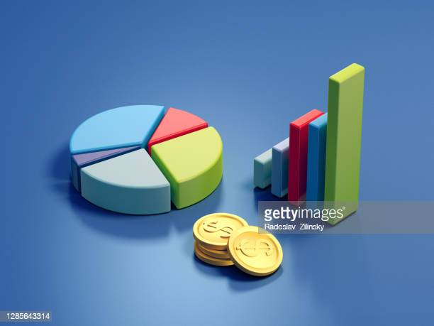 stock graphs 3d illustration - infographics stock pictures, royalty-free photos & images