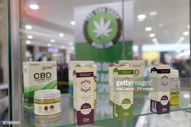 A stock image of CBD oil products on sale in Belfast