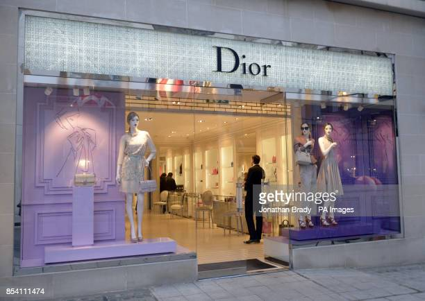 Stock image of the Dior shop in New Bond Street London