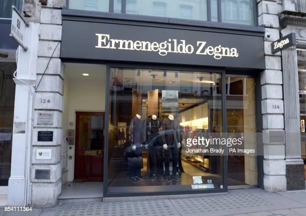 Stock image of the Ermenegildo Zegna shop in New Bond Street London