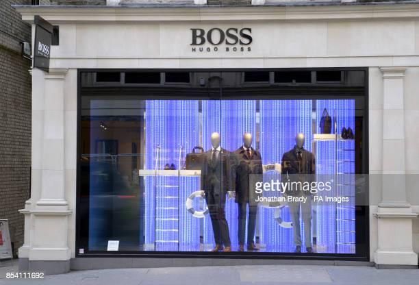Stock image of the Hugo Boss shop in New Bond Street London