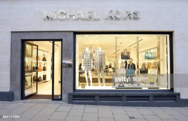 Stock image of the Michael Kors shop in New Bond Street London