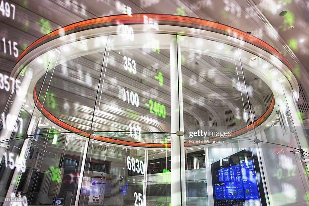 Stock index with Tokyo stock exchange : Stock Photo