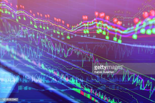 stock market chart - financial figures stock pictures, royalty-free photos & images
