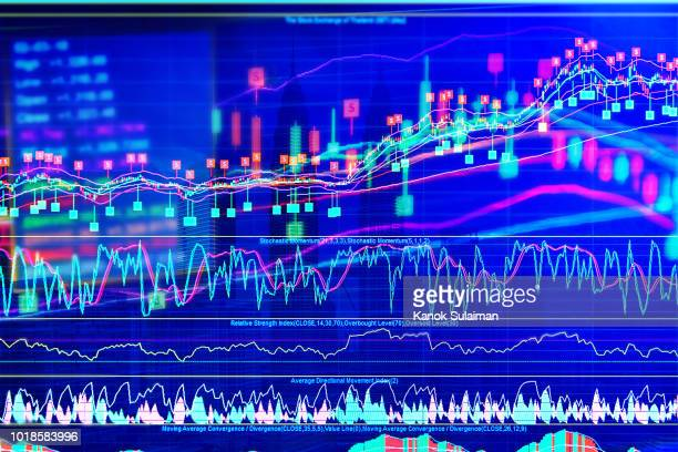 stock market chart - data visualization stock pictures, royalty-free photos & images