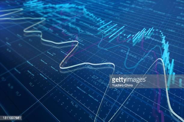 stock market chart - 金融と経済 ストックフォトと画像