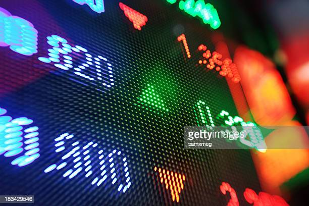 stock market charts - dow jones industrial average stock pictures, royalty-free photos & images