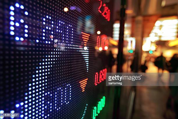 stock market charts - dow jones industrial average stock photos and pictures