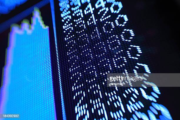 stock market charts - hang seng index stock pictures, royalty-free photos & images