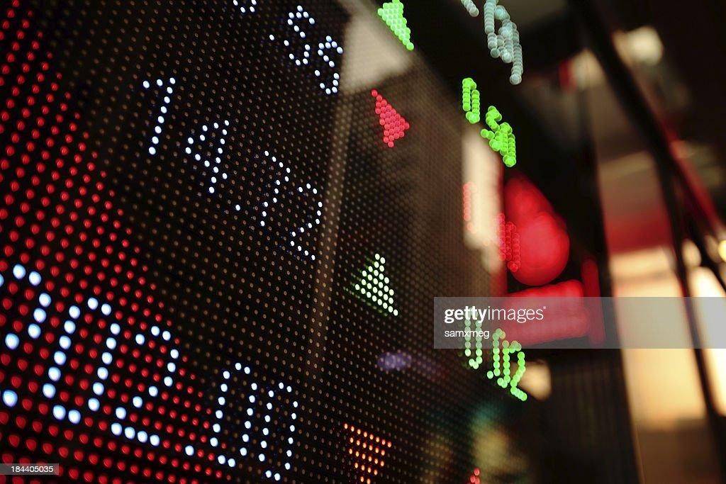 Stock market charts : Stock Photo