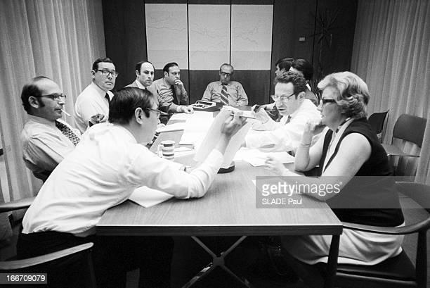 Stock Market Crisis Wall Street Black Hours New York 22 Mai 1970 Lors de la crise boursière à Wall Street à l'intérieur du New York Stock Exchange...