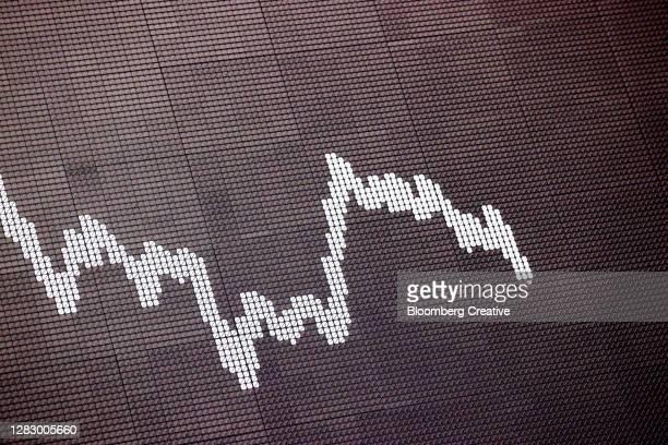 stock market curve - dax stock-fotos und bilder