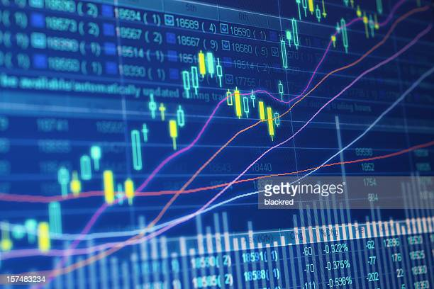 stock market data - interest rate stock pictures, royalty-free photos & images