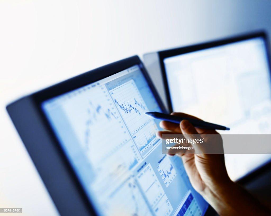 Stock marktgegevens : Stockfoto