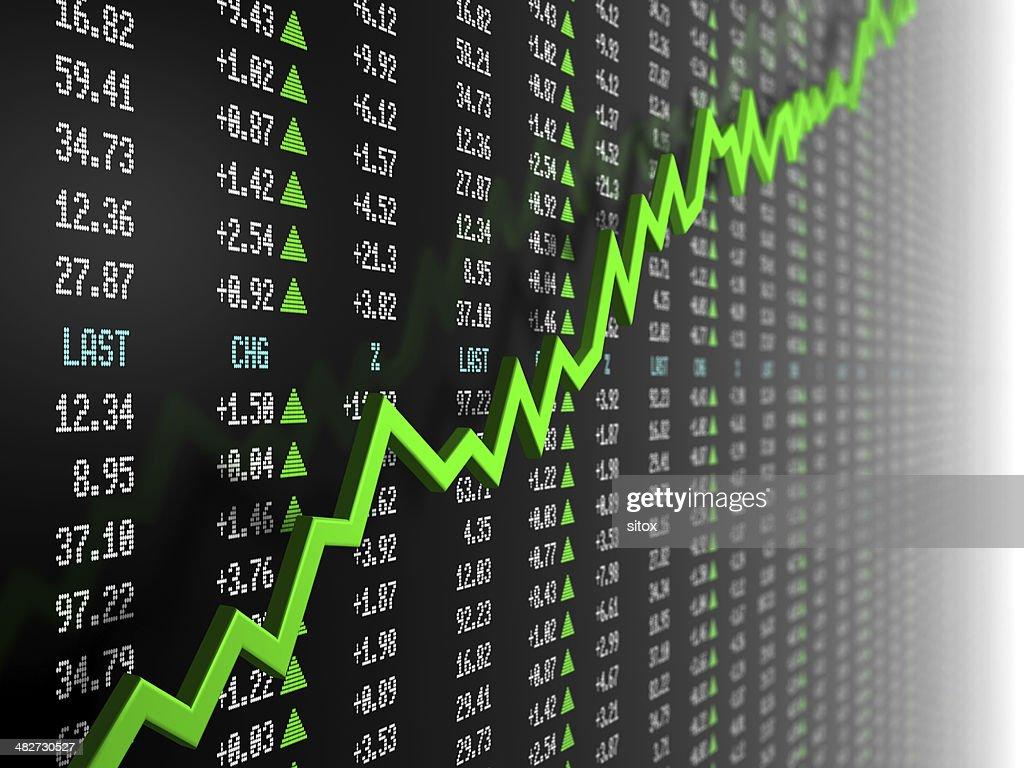 株式マーケットデータの uptrend ベクター : ストックフォト