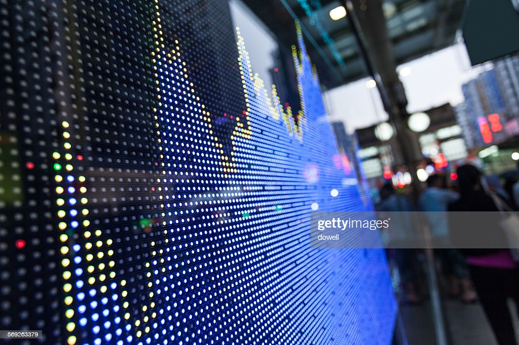 Stock market display screen board : Stock-Foto