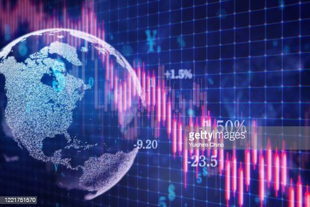 stock market falling - finance and economy stock pictures, royalty-free photos & images